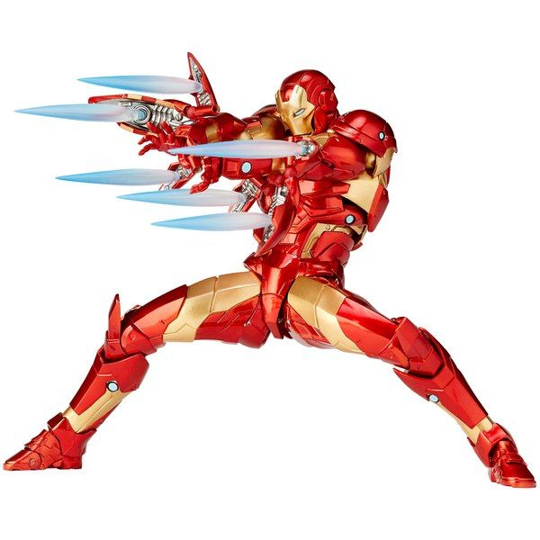 Amazing Yamaguchi Revoltech Bleeding Edge Armor Iron Man Iron Man Action Figures Yamaguchi Iron Man
