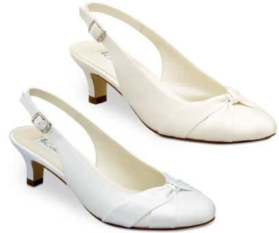 Ivory Low Heel Wedding Shoes Coloriffics