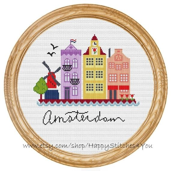 Cross Stitch Pattern PDF Amsterdam DD0070