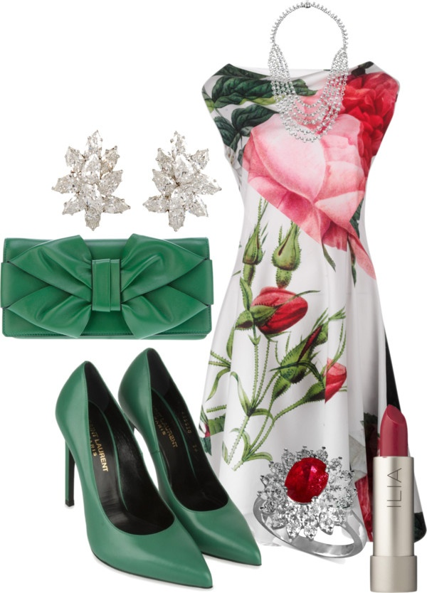 """Silver Spring Dress"" by wulanizer on Polyvore"