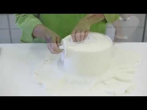 ▶ How To Cover A Styrofoam Cake With Fondant - YouTube