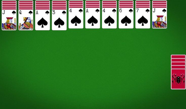 Games Included With Windows Vista: Spider Solitaire