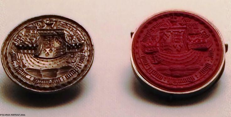 Matriz para el sello del futuro Ricardo III. Inglaterra. Aleación de cobre dorado. H. 1461. Seal matrix of thefuture Richard III About 1461