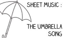 Make in to a rainy day game using an umbrella as a prop. Let's Play Music : Free Sheet Music (Easy) Piano - The Umbrella Song - free resource section