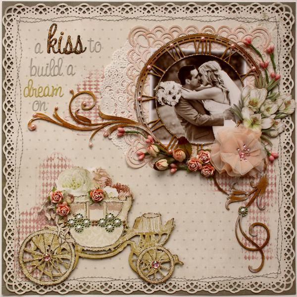 Layout: A Kiss to Build a Dream On *Australian Scrapbook Ideas Magazine Cover!!**