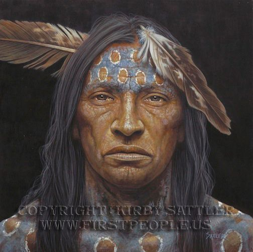 A Native American Poster entitled 'Hailstorm' by Kirby Sattler. I love his work. The eyes really speak to my soul.