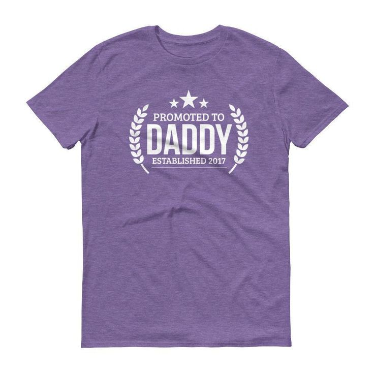 Men's Promoted to Daddy Established 2017 t-shirt - New first time Dad to be gift
