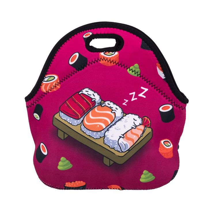 Sleep Sushi Who Cares 3D Printing lunch bags for women 2017 New lunch bags food bag insulated lunch bag bolsa nevera portatil #Affiliate