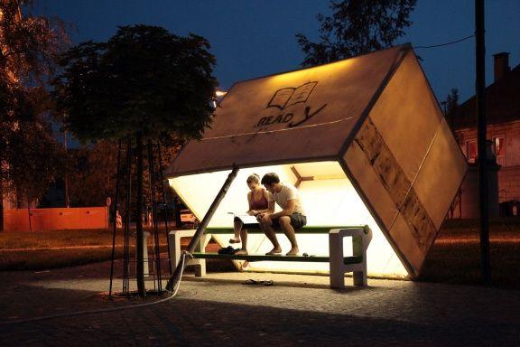 A lighting installation as part of the Lighting Guerrilla Festival 2010.