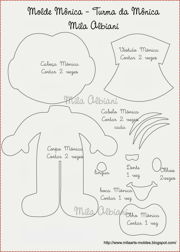 Mila Arts - moldes e PAP: Turma da Mônica
