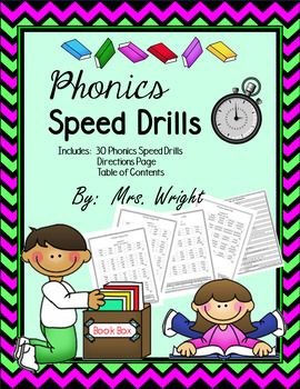 These Phonics Speed Drills are an excellent way for you to help your students build fluency while reading. You can use these for reading group, literacy centers, and even homework practice!! I use one lesson per week. That is 30 weeks of Phonics Speed Drills!!