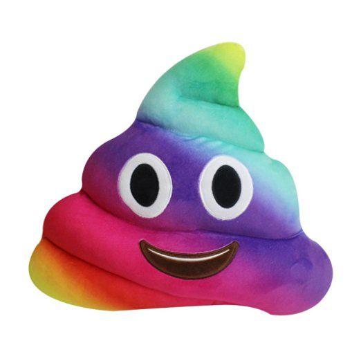 Oreiller, Baonoop Emoji Poo amusante forme oreiller Emoticon coussin coeur yeux Poo forme oreiller poupée jouet Throw cadeau