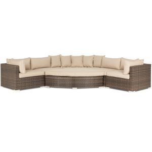 Memphis Brown Corner Sofa