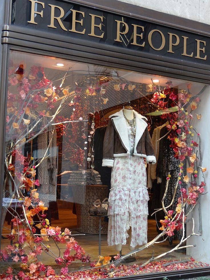 Free People Window Displays