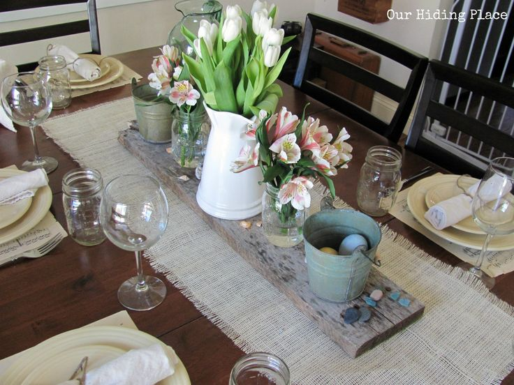 burlap table decorations - Google Search
