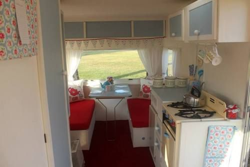 vintage 4 berth shabby chic monza touring caravan with. Black Bedroom Furniture Sets. Home Design Ideas