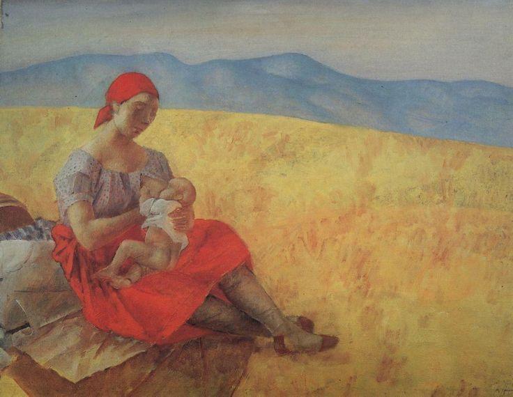 Петров-Водкин Кузьма Сергеевич (1878-1939): Мать2. 1913