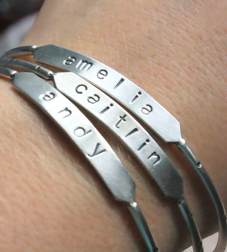 Custom Stamped Bangle Bracelet by TorchFire Studio on Scoutmob