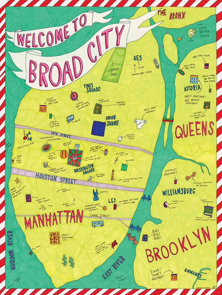 See a Map of Broad City Drawn by Star Abbi Jacobson