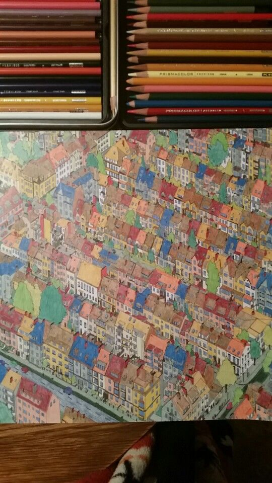 Finished Bremen Germany With Prismacolor Pencils GermanyColoring BooksColouringPrismacolorCraft ProjectsPencilCities