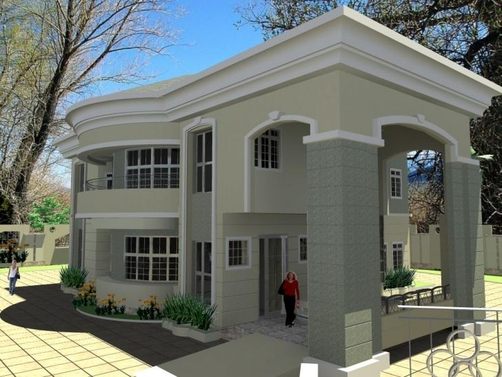 Interesting 4 Bedroom Bungalow House Designs Floor Plan Of 5 Bedroom Bungalow 4 Bedroom Bun House Design Pictures Modern Architecture House Duplex House Design