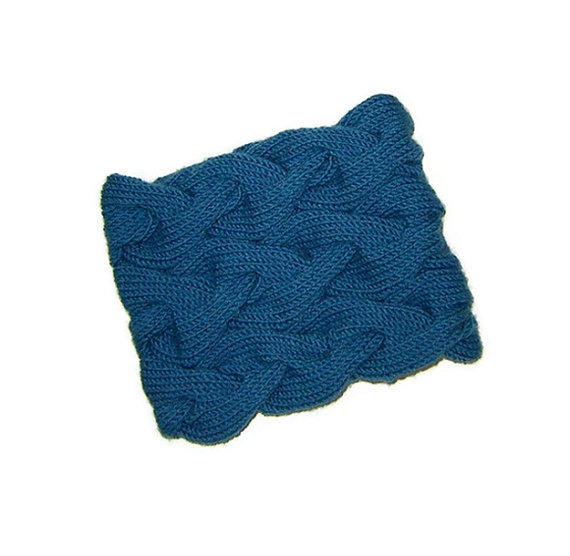 Triple Cable Cowl in Dusty Blue Denim Blue Hand by naryaboutique, $40.00