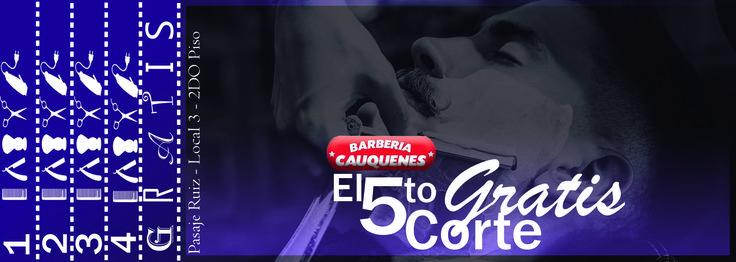 Estrategia de (MKT) ticket para #barberiaCauquenes promoción