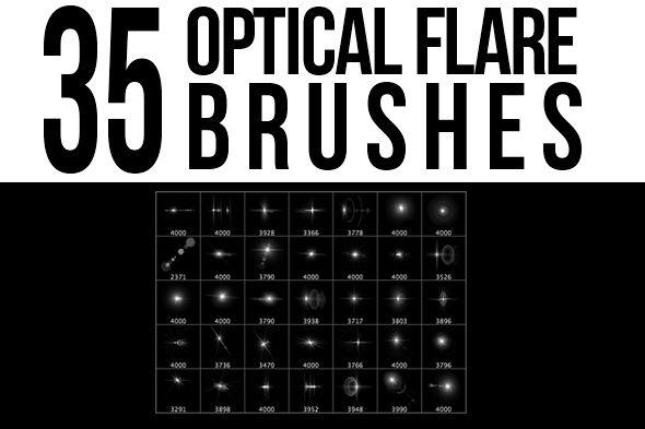 35 Optical Flare Photoshop Brushes