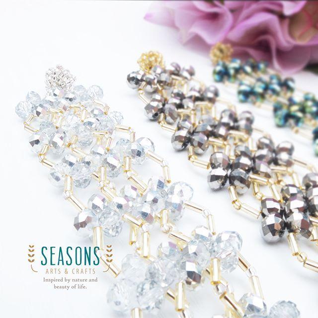 Closer looks of beaded bracelet. Get the bling bling looks when you wear it.  #beadsbracelet #handmadebracelet #crystalbracelet #jualgelangmote #jualgelangkristal