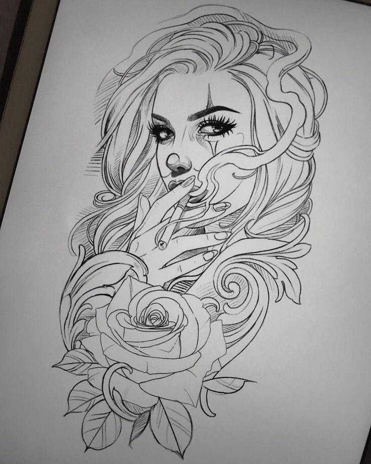 Lazy Sunday Drawing For Fun. Available To Tattoo, Mail Me