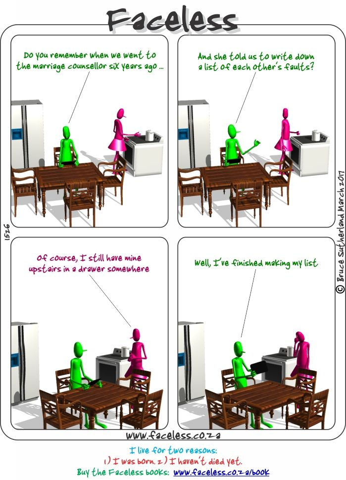 Faceless Comics: Do you remember when we went to the marriage counsellor
