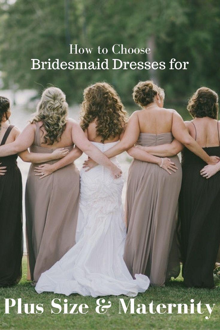 261 best bridesmaid dresses images on pinterest lavender black how to choose bridesmaid dresses for plus size maternity ombrellifo Images