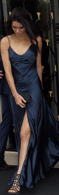 Kendall Jenner's blue gown by Johanna Johnson