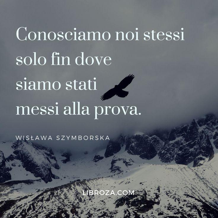 Conosciamo noi stessi solo fin dove siamo stati messi alla prova. Wisława Szymborska  Libroza.com