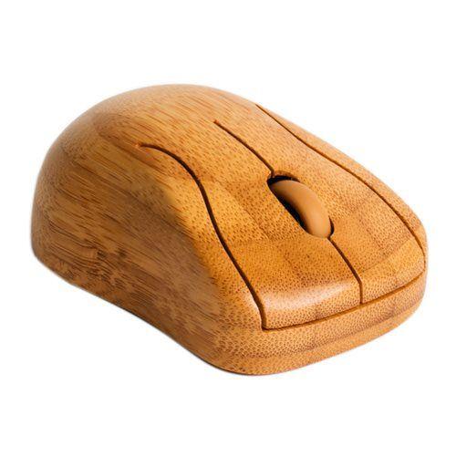 Deze computermuis van WoodStuff is een opvallend accessoire met zijn bamboehouten uiterlijk. Leuk voor op je werkplek! #vindjouwmooi #fonQ #mooi