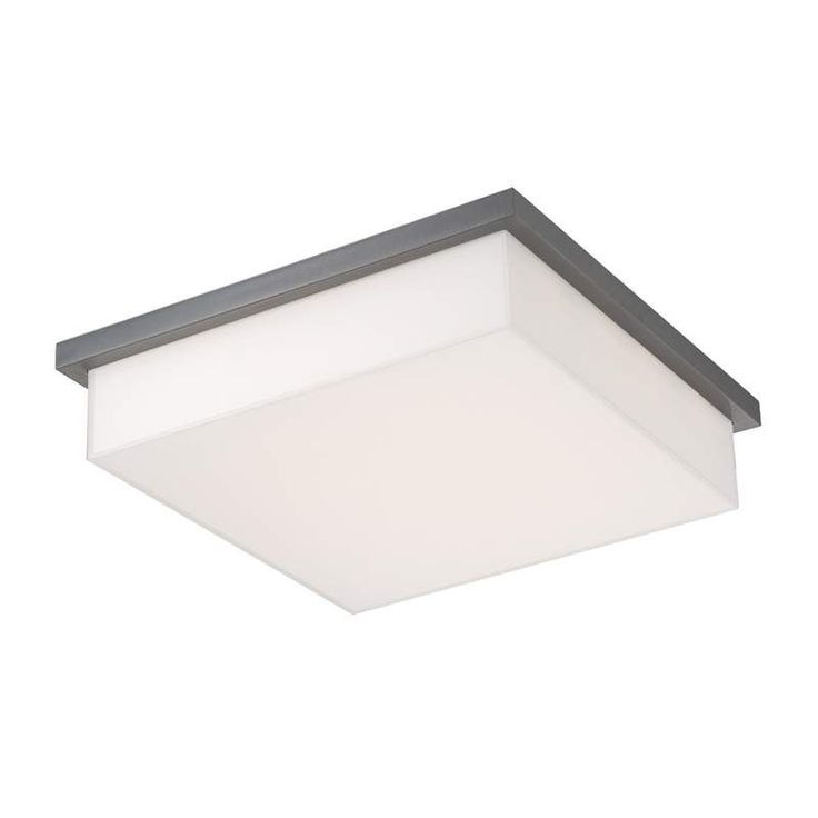 "Modern Forms FM-1414 Ledge 1 Light 14"" Wide LED Outdoor Flush Mount Ceiling Fixt Graphite Outdoor Lighting Ceiling Fixtures Flush Mount"