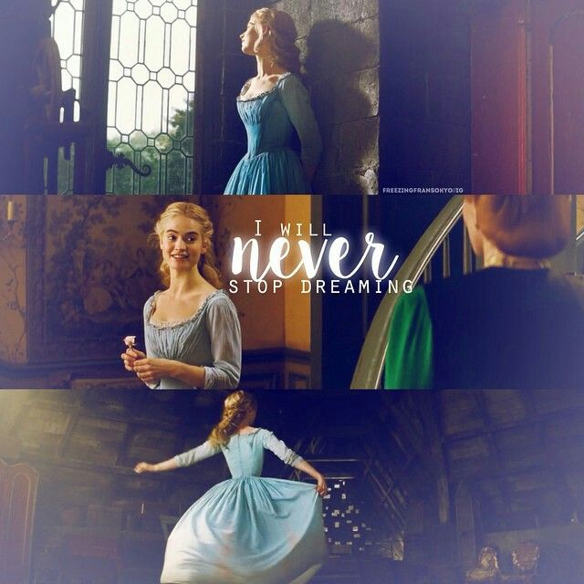 I love the way that despite everything Cinderella has been through, she still stays positive with an almost childlike view of the world. I think that's part of the magic, too, that she still has faith and hope in spite of her circumstances.
