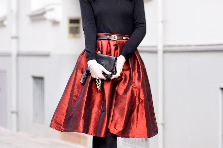 red skirt christmas outfit weihnachtsoutfit mädchen fashion mode modeblog fashionblogger pretty schwarz elegant hannover berlin ricarda schernus blog 1