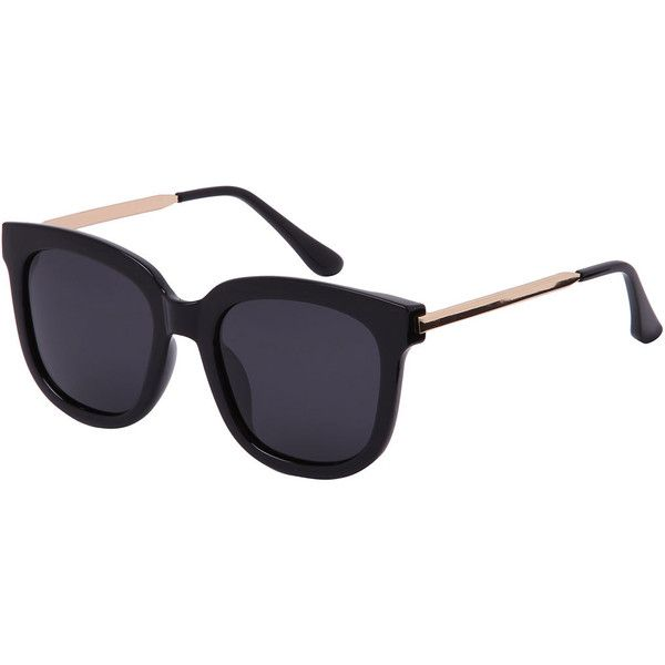 Retro Black Lenses Oversized Square Sunglasses (10 AUD) ❤ liked on Polyvore featuring accessories, eyewear, sunglasses, glasses, oculos, black, oversized retro sunglasses, black lens sunglasses, oversized sunglasses and retro square sunglasses