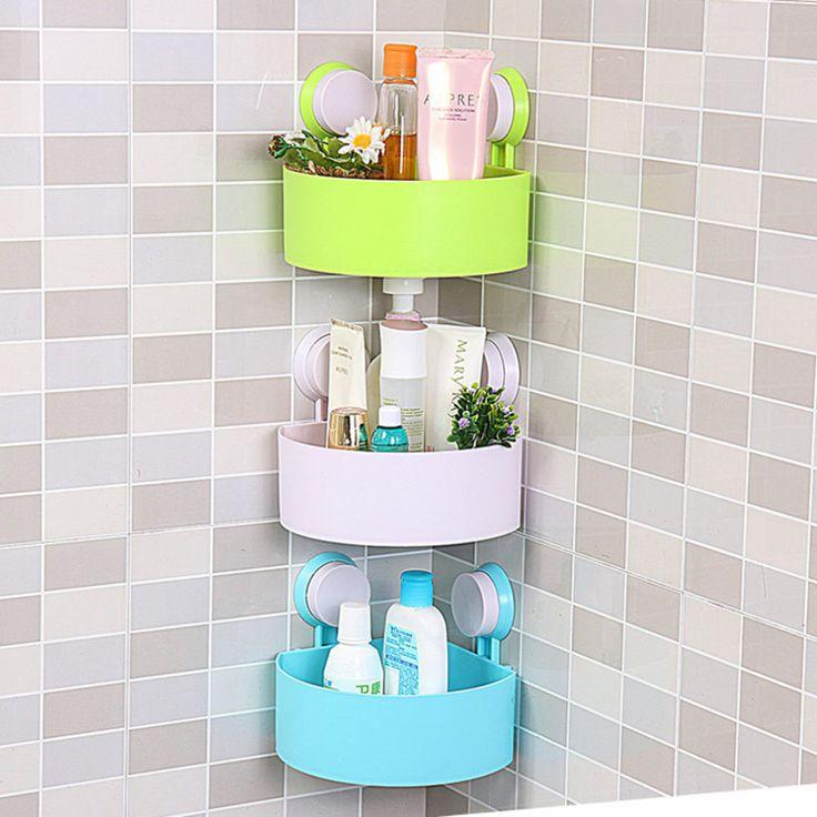 Plastic Suction Cup Bathroom Kitchen Corner Storage Rack Organizer Shower  Shelf. 17 Best ideas about Shower Shelves on Pinterest   Subway tile