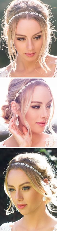 This elegant, intricate bridal headband with each glass pearl fastened around beautiful crystal rhinestones is the perfect finish to any bridal look. Handcrafted in NYC, this piece is customized by yo
