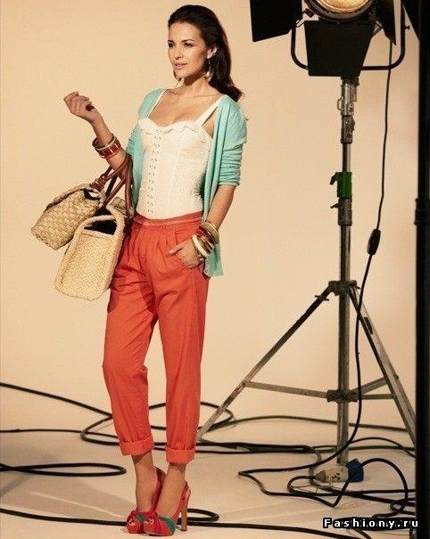 Укороченные и подвернутые брюки как тренд 2012 года / штаны укороченные