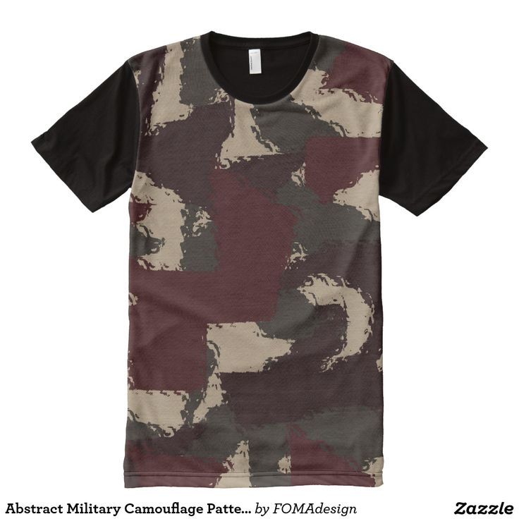 Abstract Military Camouflage Pattern / All-Over Print T-shirt, by FOMAdesign