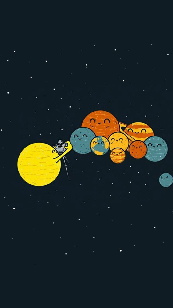 Sun And Planets Group Picture - Tap to see more funny homescreen jokes wallpaper for a laugh everytime you turn on your phone!