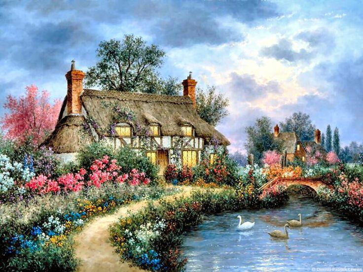 Cottage in the Glen by Dennis Patrick Lewan