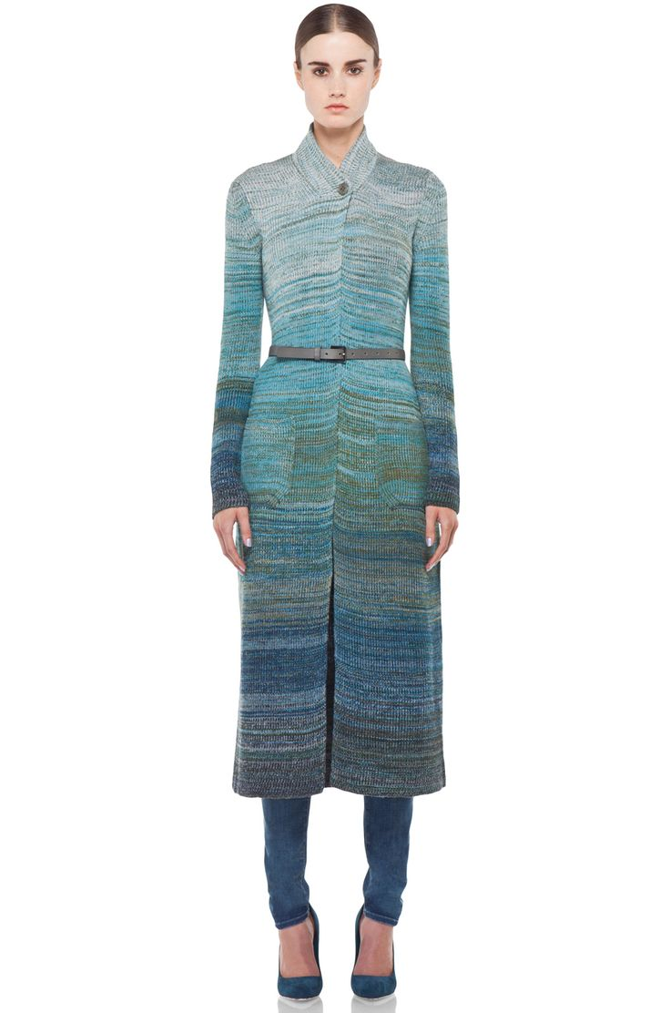 Missoni Long Ombre Cardigan in Turquoise | FWRD