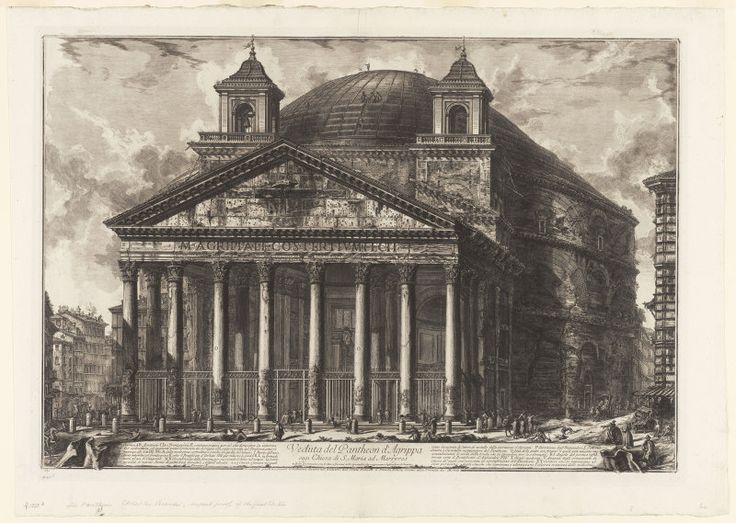 View of the Pantheon of Agrippa, today S. Maria ad Martyres, from... | The Art Institute of Chicago