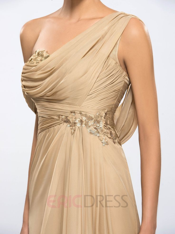 Ericdress One-shoulder Sequins Evening Dress 6