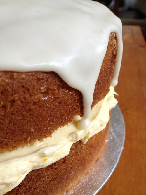Orange cake with zingy orange buttercream filling & an orange glaze… | Afternoon Tease