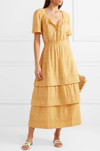 0db5a12729 LoveShackFancy   Heather tiered embroidered cotton midi dress    NET-A-PORTER.COM